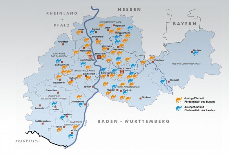 img-1543618199943565be2f28f7c1d7 Kamelpotrait: Philipp Granzow<br /> Karte Energiekarawane: Metropolregion